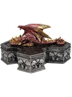 Skull Keeper Dragon Box Gothic Plus Gothic Clothing, Jewelry, Goth Shoes & Boots & Home Decor