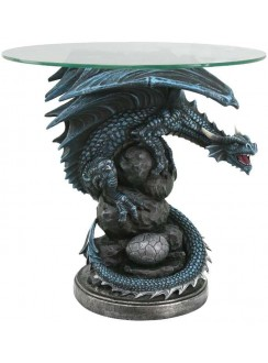 Mother Dragon Glass Top Accent Table Gothic Plus Gothic Clothing, Jewelry, Goth Shoes & Boots & Home Decor