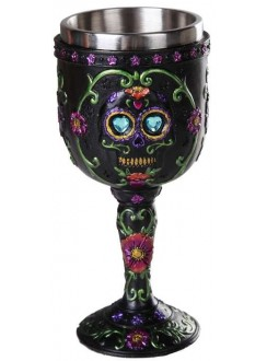 Day of the Dead Sugar Skull Goblet Gothic Plus Gothic Clothing, Jewelry, Goth Shoes & Boots & Home Decor