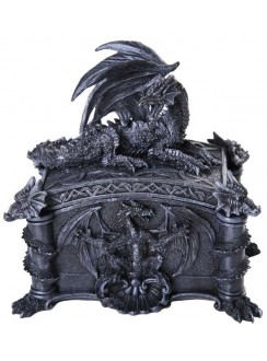 Dragon Treasure Box Gothic Plus Gothic Clothing, Jewelry, Goth Shoes & Boots & Home Decor