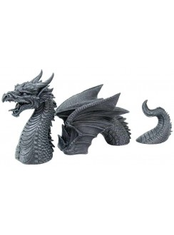 Dragon of a Fallen Castle Moat Statue Gothic Plus Gothic Clothing, Jewelry, Goth Shoes & Boots & Home Decor