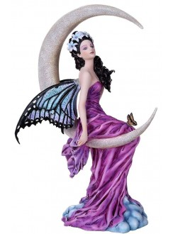 Amethyst Moon Fairy Statue Gothic Plus Gothic Clothing, Jewelry, Goth Shoes & Boots & Home Decor
