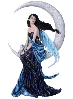 Indigo Moon Fairy Statue Gothic Plus Gothic Clothing, Jewelry, Goth Shoes & Boots & Home Decor