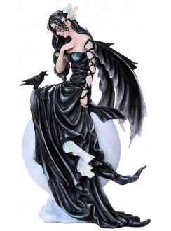 Dark Skies Fairy Raven Statue Gothic Plus Gothic Clothing, Jewelry, Goth Shoes & Boots & Home Decor
