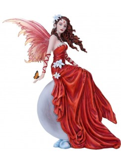 Crimson Lilly Fairy Statue Gothic Plus Gothic Clothing, Jewelry, Goth Shoes & Boots & Home Decor