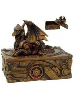 Steampunk Winged Dragon Trinket Box Gothic Plus Gothic Clothing, Jewelry, Goth Shoes & Boots & Home Decor