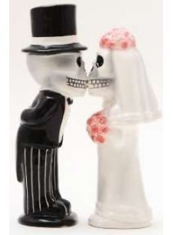 Love Never Dies Salt and Pepper Shakers Gothic Plus Gothic Clothing, Jewelry, Goth Shoes & Boots & Home Decor