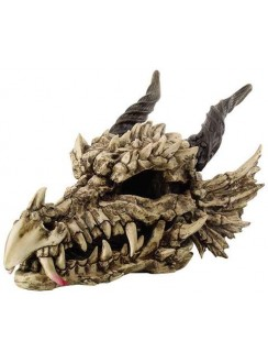 Dragon Skull Large Bone Resin Statue Gothic Plus Gothic Clothing, Jewelry, Goth Shoes & Boots & Home Decor