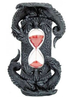 Double Dragon Gothic Sand Timer Gothic Plus Gothic Clothing, Jewelry, Goth Shoes & Boots & Home Decor