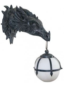 Marshgate Castle Dragon Wall Sconce Gothic Plus Gothic Clothing, Jewelry, Goth Shoes & Boots & Home Decor
