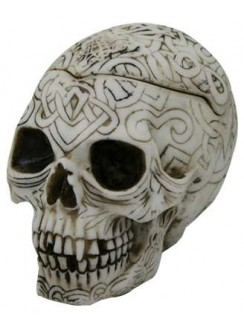 Celtic Skull Small Box Gothic Plus Gothic Clothing, Jewelry, Goth Shoes & Boots & Home Decor