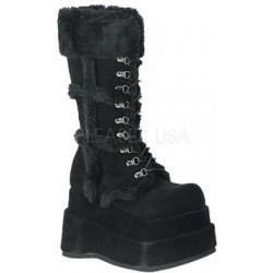 Bear Faux Fur Black Womens Boots Gothic Plus  Gothic Clothing, Jewelry, Goth Shoes, Boots & Home Decor