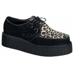 Leopard Print Mens Creeper Loafer Gothic Plus Gothic Clothing, Jewelry, Goth Shoes & Boots & Home Decor