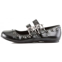 Skull Buckle Mary Jane Flat Gothic Shoes Gothic Plus Gothic Clothing, Jewelry, Goth Shoes & Boots & Home Decor