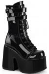 Black Patent Platform Chunky Heel Boots