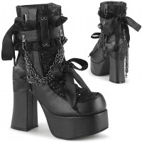 Charade Lace Accent Ankle Boots