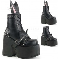 Kitty and Bunny Ear Chunky Heel Platform Boots