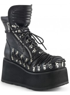 Clash Corseted Womens Motorcycle Boots Gothic Plus Gothic Clothing, Jewelry, Goth Shoes & Boots & Home Decor