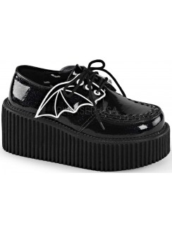 Black Bat Wing Creepers for Women Gothic Plus Gothic Clothing, Jewelry, Goth Shoes & Boots & Home Decor