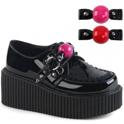 Ball Gag Black Vegan Womens Creeper Gothic Plus Gothic Clothing, Jewelry, Goth Shoes & Boots & Home Decor