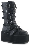 Damned Black Buckled Gothic Boots for Women