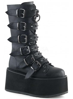 Damned Black Buckled Gothic Boots for Women Gothic Plus Gothic Clothing, Jewelry, Goth Shoes & Boots & Home Decor