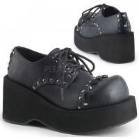 Dank Womans Black Platform Oxford Shoe