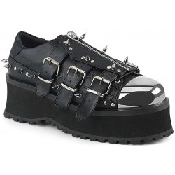 Gravedigger Mens Spiked Platform Oxford Shoe Gothic Plus Gothic Clothing, Jewelry, Goth Shoes & Boots & Home Decor