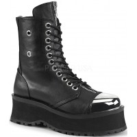 Gravedigger Mens Platform Ankle Boots
