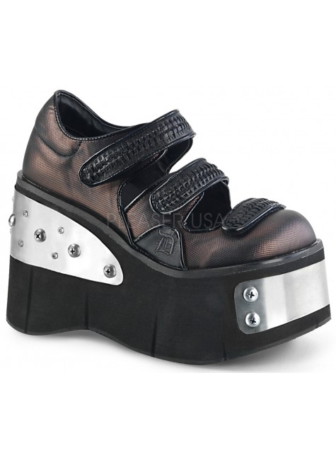 Kera Womens Platform Mary Jane with Metal Plates at Gothic Plus, Gothic Clothing, Jewelry, Goth Shoes & Boots & Home Decor