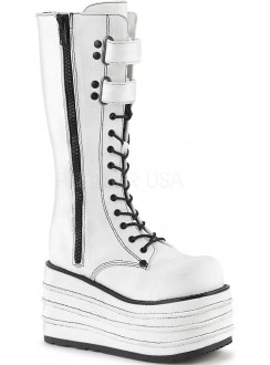 Mori White Canvas Sneaker Boot for Women Gothic Plus Gothic Clothing, Jewelry, Goth Shoes & Boots & Home Decor