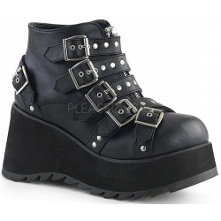 Scene Buckled Black Ankle Boots Gothic Plus Gothic Clothing, Jewelry, Goth Shoes & Boots & Home Decor