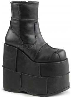 Stack Mens Platform Patched Ankle Boot Gothic Plus Gothic Clothing, Jewelry, Goth Shoes & Boots & Home Decor