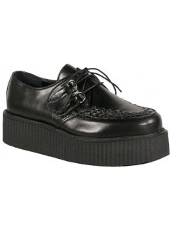 Black Faux Leather Mens Basic Creeper Loafer Gothic Plus Gothic Clothing, Jewelry, Goth Shoes & Boots & Home Decor
