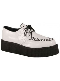 White Faux Leather Mens Basic Creeper Loafer Gothic Plus Gothic Clothing, Jewelry, Goth Shoes & Boots & Home Decor