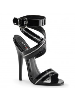 Zippered Domina High Heel Sandal Gothic Plus Gothic Clothing, Jewelry, Goth Shoes & Boots & Home Decor