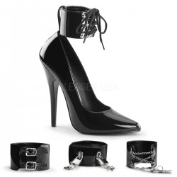 Ankle Cuff Domina 6 Inch High Heel Pump Gothic Plus Gothic Clothing, Jewelry, Goth Shoes & Boots & Home Decor