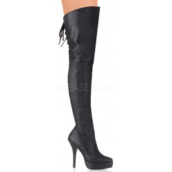 Indulge Leather Thigh High Platform Boot Gothic Plus Gothic Clothing, Jewelry, Goth Shoes & Boots & Home Decor