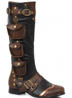 Amos Multi Pocket Steampunk Mens Knee High Boots Gothic Plus Gothic Clothing, Jewelry, Goth Shoes & Boots & Home Decor