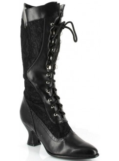 Rebecca Victorian Black Lace Boot Gothic Plus Gothic Clothing, Jewelry, Goth Shoes & Boots & Home Decor