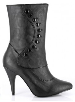 Ruth Black Ankle Boots with Button Detail Gothic Plus Gothic Clothing, Jewelry, Goth Shoes & Boots & Home Decor