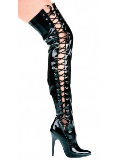 Ferocious Side Lacing Thigh High 5 Inch Heel Boot Gothic Plus Gothic Clothing, Jewelry, Goth Shoes & Boots & Home Decor
