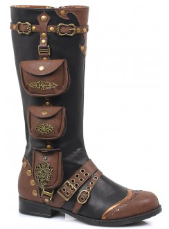 Silas Multi Pocket Steampunk Womens Boots Gothic Plus Gothic Clothing, Jewelry, Goth Shoes & Boots & Home Decor