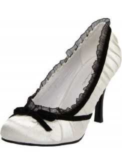 Satin Doll White High Heel Pump Gothic Plus Gothic Clothing, Jewelry, Goth Shoes & Boots & Home Decor