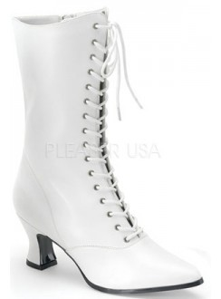 White Victorian Steampunk Ankle Boots Gothic Plus Gothic Clothing, Jewelry, Goth Shoes & Boots & Home Decor