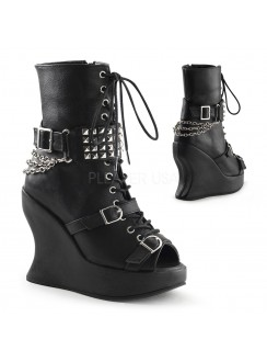 Peep Toe Bravo Spiked Wedge Boots Gothic Plus Gothic Clothing, Jewelry, Goth Shoes & Boots & Home Decor