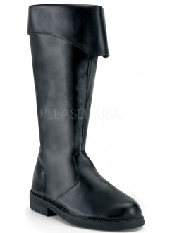 Captain Mid Calf Cuffed Black Boots Gothic Plus Gothic Clothing, Jewelry, Goth Shoes & Boots & Home Decor