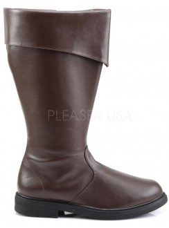Captain Mid Calf Cuffed Brown Boots Gothic Plus Gothic Clothing, Jewelry, Goth Shoes & Boots & Home Decor