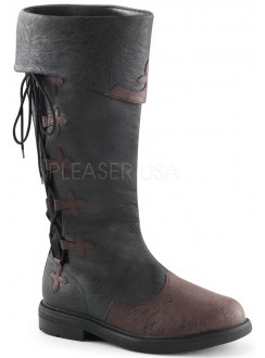 Distressed Black Rennaissance Costume Boots Gothic Plus Gothic Clothing, Jewelry, Goth Shoes & Boots & Home Decor