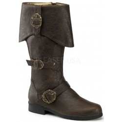Carribean Distressed Brown Pirate Boots Gothic Plus Gothic Clothing, Jewelry, Goth Shoes & Boots & Home Decor